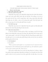 NHẬP KHẨU SONG SONG và vấn đề NHẬP KHẨU SONG SONG THUỐC ở VIỆT NAM