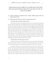 ĐỊNH HƯỚNG PHÁT TRIỂN VÀ CÁC BIỆN PHÁP THÚC ĐẨY TIÊU THỤ SẢN PHẨM VÀ TĂNG DTTT TẠI CÔNG TY VẬT TƯ