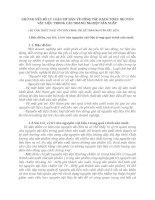 NHỮNG VẤN ĐỀ LÝ LUẬN CƠ BẢN VỀ CÔNG TÁC HẠCH TOÁN NGUYÊN VẬT LIỆU TRONG CÁC DOANH NGHIỆP SẢN XUẤT