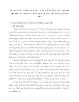 MỞ RỘNG HOẠT ĐỘNG CHO VAY CỦA NGÂN HÀNG  THƯƠNG MẠI ĐỐI VỚI CÁC DOANH NGHIỆP VỪA VÀ NHỎ  NHỮNG VẤN ĐỀ CƠ BẢN
