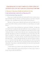 TÌNH HÌNH ĐẦU TƯ PHÁT TRIỂN CỦA TỔNG CÔNG TY CỔ PHẦN XÂY LẮP VIỆT NAM
