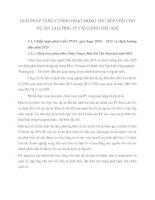 GIẢI PHÁP TĂNG CƯỜNG HOẠT ĐỘNG THU XẾP VỐN CHO DỰ ÁN TẠI CÔNG TY TÀI CHÍNH DẦU KHÍ