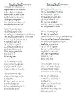 Lời bài hát: Bông Hồng tặng cô-Lời Tiếng Anh