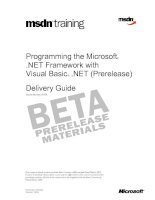 Programming the Microsoft® .NET Framework with Visual Basic® .NET (Prerelease)