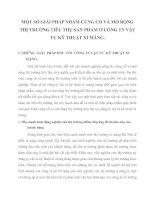 MỘT SỐ GIẢI PHÁP NHẰM CỦNG CỐ VÀ MỞ RỘNG THỊ TRƯỜNG TIÊU THỤ SẢN PHẨM Ở CÔNG TY VẬT TƯ KỸ THUẬT XI MĂNG