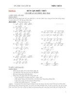 Tổng hợp các dạng toán thi vào lớp 10