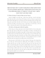 MỘT SỐ NHẬN XÉT VÀ KIẾN NGHỊ HOÀN THIỆN KIỂM TOÁN TÀI SẢN CỐ ĐỊNH TRONG QUY TRÌNH KIỂM TOÁN BÁO CÁO TÀI CHÍNH DO CÔNG TY TNHH TƯ VẤN KẾ TOÁN   KIỂM TOÁN VIỆT NAM THỰC HIỆN
