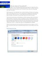 Biến giao diện của Vista giống XP