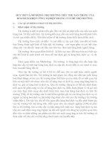 DUY TRÌ VÀ MỞ RỘNG THỊ TRƯỜNG TIÊU THỤ SẢN PHẨM  CỦA DOANH NGHIỆP CÔNG NGHIỆP TRONG CƠ CHẾ THỊ TRƯỜNG