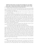 NHỮNG NỘI DUNG CƠ BẢN VỀ NGHIỆP VỤ AN SINH GIÁO DỤC TRONG HỆ THỐNG BẢO HIỂM NHÂN THỌ