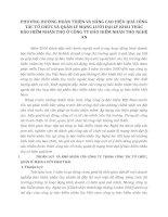 PHƯƠNG HƯỚNG HOÀN THIỆN VÀ NÂNG CAO HIỆU QUẢ CÔNG TÁC TỔ CHỨC VÀ QUẢN LÝ MẠNG LƯỚI ĐẠI LÝ KHAI THÁC BẢO HIỂM NHÂN THỌ Ở CÔNG TY BẢO HIỂM NHÂN THỌ NGHỆ AN