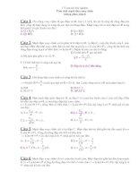 172 câu hỏi trắc nghiệm điện xoay chiều