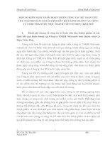 MỘT SỐ KIẾN NGHỊ NHẰM HOÀN THIỆN CÔNG TÁC KẾ TOÁN TIÊU THỤ THÀNH PHẨM VÀ XÁC ĐỊNH KẾT QUẢ KINH DOANH TẠI CÔNG TY TNHH NHÀ NƯỚC MỘT THÀNH VIÊN CƠ ĐIỆN TRẦN PHÚ