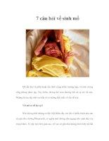 7 câu hỏi về sinh mổ