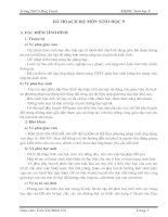 Kế hoạch bộ môn Sinh học 9