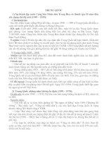 Lịch Sử 12 - Ôn tập và nâng cao kiến thức về các quốc gia và vùng lãnh thổ trên thế giới