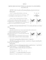 Phương pháp giải toán về  về phản xạ ánh sáng của gương phẳng và gương cầu