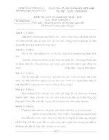 Đề và đáp án thi HKI Ngữ văn 9