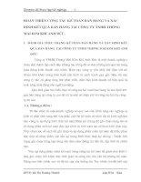 HOÀN THIỆN CÔNG TÁC KẾ TOÁN BÁN HÀNG VÀ XÁC ĐỊNH KẾT QUẢ BÁN HÀNG TẠI CÔNG TY TNHH THƯƠNG MẠI KIM KHÍ ANH ĐỨC.