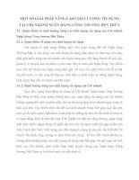 MỘT SỐ GIẢI PHÁP NÂNG CAO CHẤT LƯỢNG TÍN DỤNG TẠI CHI NHÁNH NGÂN HÀNG CÔNG THƯƠNG BẾN THỦY