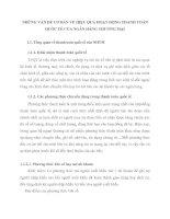 NHỮNG VẤN ĐỀ CƠ BẢN VỀ HIỆU QUẢ HOẠT ĐỘNG THANH TOÁN QUỐC TẾ CỦA NGÂN HÀNG THƯƠNG MẠI