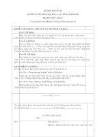 Đề và đáp án thi thử ĐH môn Sử khối C năm 2010_Đề 14