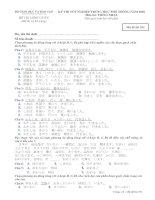 Đề thi chính thức kỳ thi tốt nghiệp THPT 2010 môn tiếng Nhật (Mã đề thi 931)