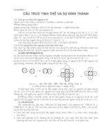 Chương 1:Cấu trúc tinh thể và sự hình thành