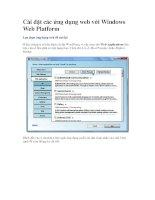 Cài đặt các ứng dụng web với Windows Web Platform-P2