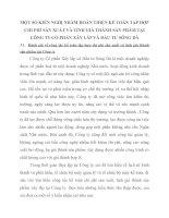 MỘT SỐ KIẾN NGHỊ NHẰM HOÀN THIỆN KẾ TOÁN TẬP HỢP CHI PHÍ SẢN XUẤT VÀ TÍNH GIÁ THÀNH SẢN PHẨM TẠI CÔNG TY CỔ PHẦN XÂY LẮP VÀ ĐẦU TƯ SÔNG ĐÀ