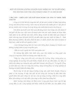 MỘT SỐ PHƯƠNG HƯỚNG VÀ BIỆN PHÁP NHẰM DUY TRÌ VÀ MỞ RỘNG THỊ TRƯỜNG TIÊU THỤ SẢN PHẨM Ở CÔNG TY CƠ KHÍ HÀ NỘI