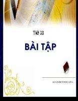 tiet 32 - BAI TAP(lop 11)