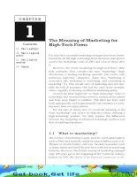 The Meaning of Marketing for High-Tech Firms
