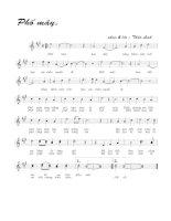Bài hát phố mây - Thảo Linh (lời bài hát có nốt)