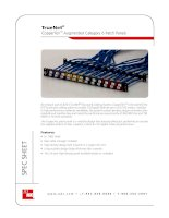 ADC KRONE - Datasheet - Cat 6A - Patch Panel