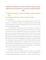 NHỮNG VẤN ĐỀ CHUNG VỀ KẾ TOÁN BÁN HÀNG VÀ XÁC ĐỊNH KẾT QUẢ BÁN HÀNG TẠI DOANH NGHIỆP THƯƠNG MẠI