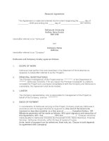 Research Contract Template
