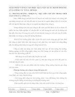 GIẢI PHÁP NÂNG CAO HIỆU QUẢ SẢN XUẤT KINH DOANH CỦA CÔNG TY VINA -BINGO