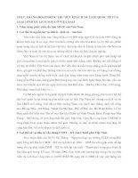 THỰC TRẠNG HOẠT ĐỘNG THU HÚT KHÁCH DU LỊCH QUỐC TẾ CỦA LOẠI HÌNH DU LỊCH MICE Ở VIỆT NAM