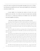 LÝ LUẬN CHUNG VỀ KẾ TOÁN TẬP HỢP CHI PHÍ SẢN XUẤT VÀ TÍNH GIÁ THÀNH SẢN PHẨM XÂY LẮP  Ở DOANH NGHIỆP XÂY LẮP TRONG GIAI ĐOẠN HIỆN NAY.