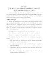 Chương 1:Các mạch tính toán, điều khiển và tạo hàm dùng khuếch đại thuật toán