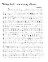 Bài hát Tiếng bước trên đường khuya 2 - Phạm Duy (lời bài hát có nốt)
