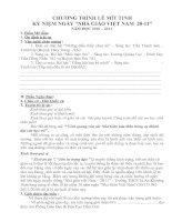 Nội dung chi tiết chương trình lễ mit tinh 20-11
