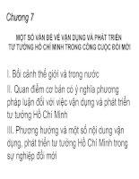 Chương 7: Một số vấn đề vận dụng và phát triển tư tưởng Hồ Chí Minh trong công cuộc đổi mới