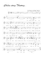 Bài hát chiều sông Thương - An Thuyên & Hữu Thỉnh (lời bài hát có nốt)