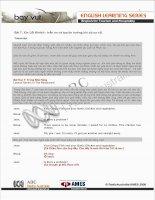 Bài 7: Xin Lỗi Khách - trấn an và tạo tin tưởng khi có sự cố