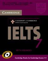 Cambridge practice tests for IELTS 7