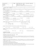 Đề kiểm tra lí 9 (có đáp án)