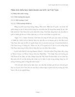 Phân tích chiến lược kinh doanh của KFC tại Việt Nam