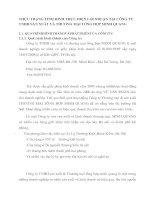 THỰC TRẠNG TÌNH HÌNH THỰC HIỆN LỢI NHUẬN TẠI CÔNG TY TNHH SÁN XUẤT VÀ THƯƠNG MẠI TỔNG HỢP MINH QUANG